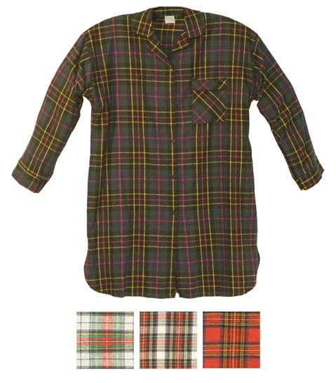 Carole women 39 s 100 cotton flannel nightshirt for Womens flannel night shirts