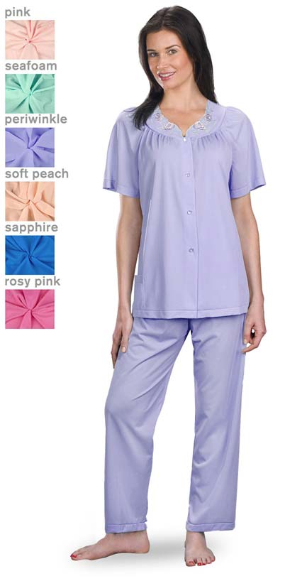 Shadowline® Petals 100% Nylon Short Sleeve Pajamas