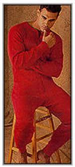 Coldmaster Men's One Piece Union Suits / Long Johns (100% Cotton)