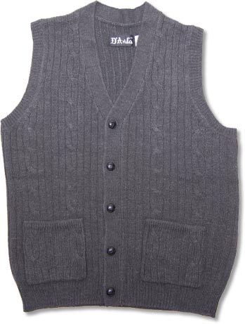 Men's Orlon Acrylic Cardigan Sweater Vest