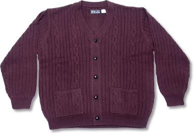 Men's Orlon Acrylic Cardigan Sweater with pockets