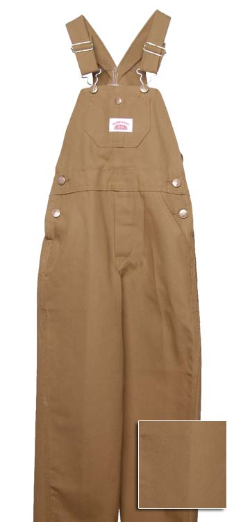 Roundhouse Youth Brown Duck Overalls