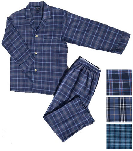 Foxfire® Men's Snapwaist 100% Cotton Yarn Dyed Flannel Pajamas